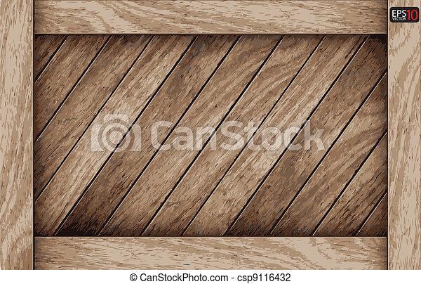 drewno, tło, deska, wektor - csp9116432