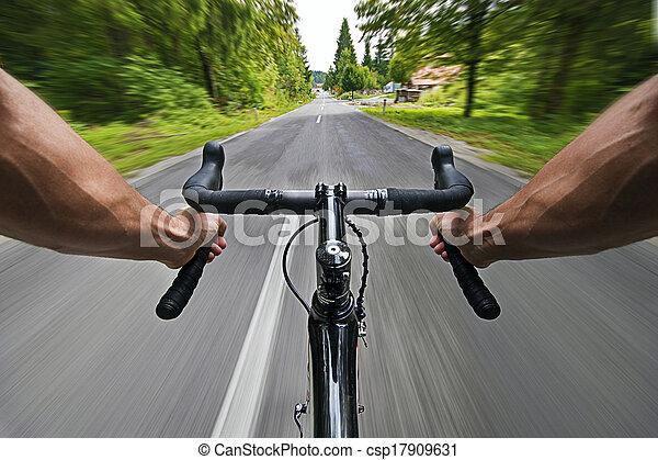 droga, kolarstwo - csp17909631