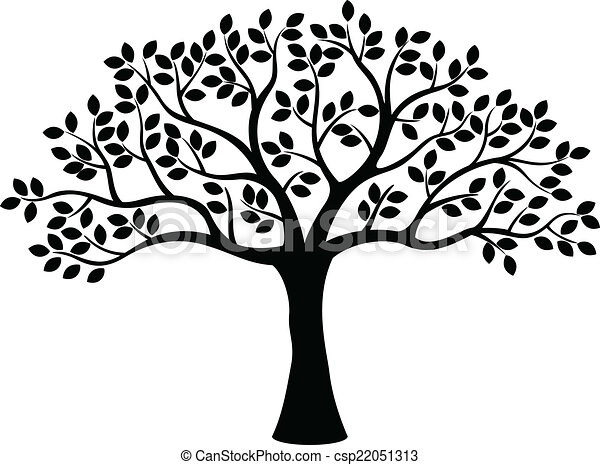 drzewo, sylwetka - csp22051313