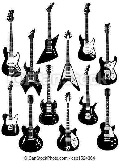 dwanaście, elektryczne gitary - csp1524364