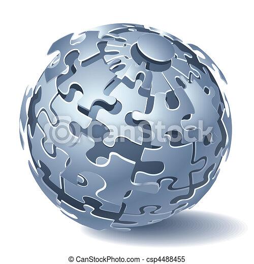 dynamiczny, zagadka, wyrzynarka, wybuch - csp4488455