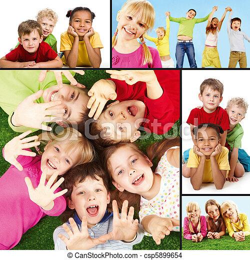 dzieci, radosny - csp5899654