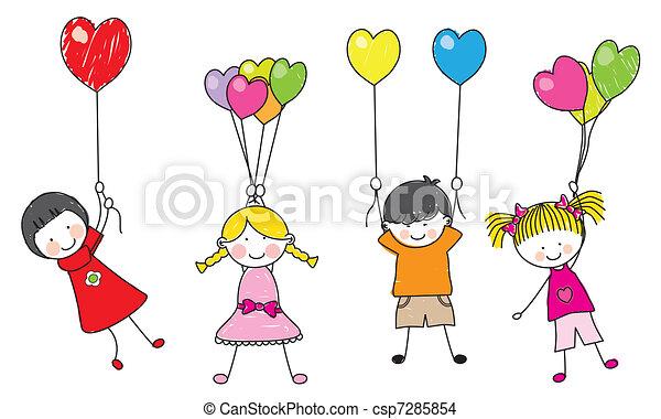 dzieci, szczęśliwy - csp7285854