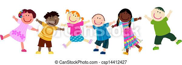 dzieciaki, szczęśliwy - csp14412427