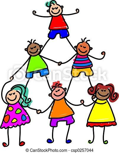 dzieciaki, teamwork - csp0257044