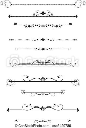 dzielący, dekoracyjny - csp3429786