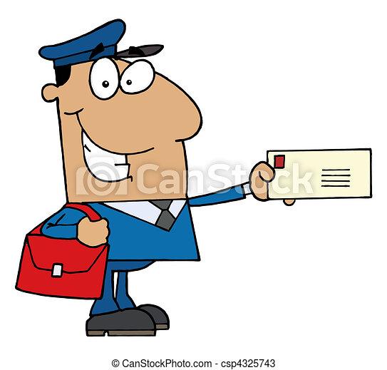 dzierżawa, hispanic człowiek, litera, poczta - csp4325743