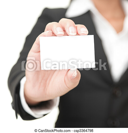 dzierżawa, znak, handlowy, kobieta interesu, karta, -, czysty - csp3364798