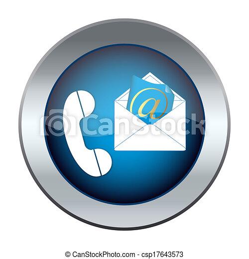 e-poczta, guzik, telefon - csp17643573