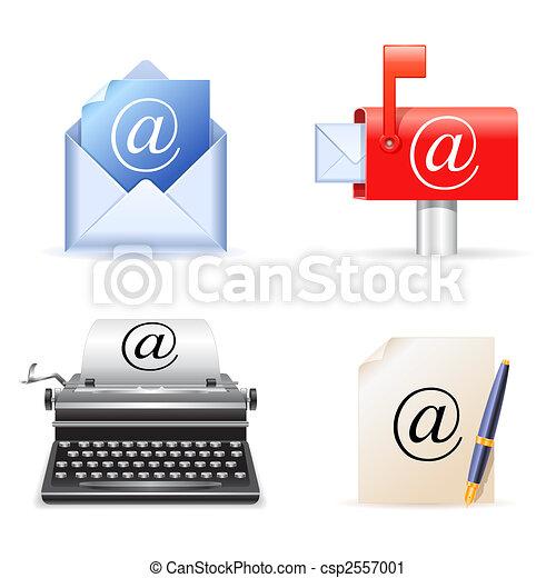 e-poczta, icons. - csp2557001