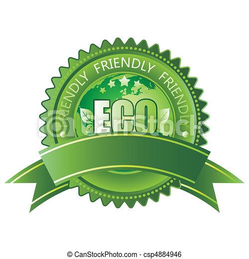 eco-przyjacielski, ikona - csp4884946