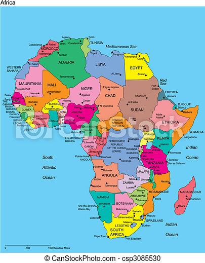 editable, afryka, nazwiska, kraje - csp3085530