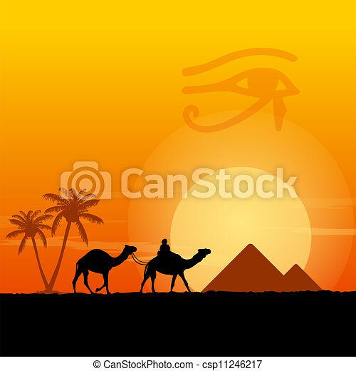 egipt, symbolika, piramidy - csp11246217