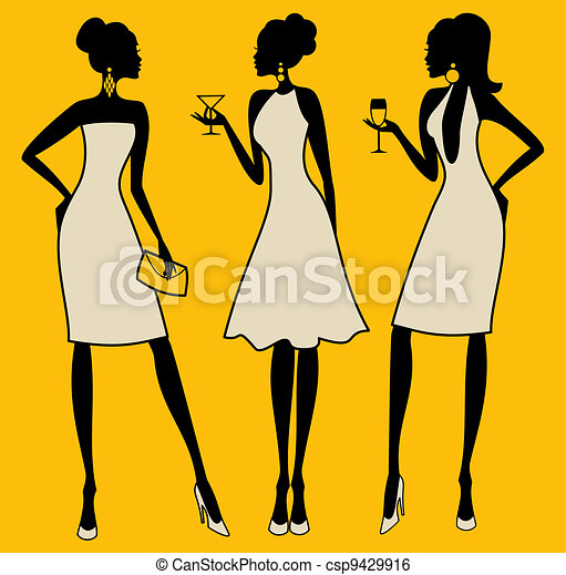 elegancki, partia, kobiety - csp9429916