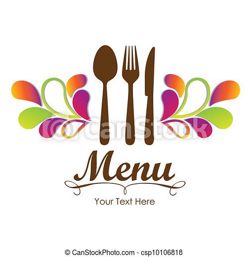 elegancki, restauracja, karta, menu - csp10106818