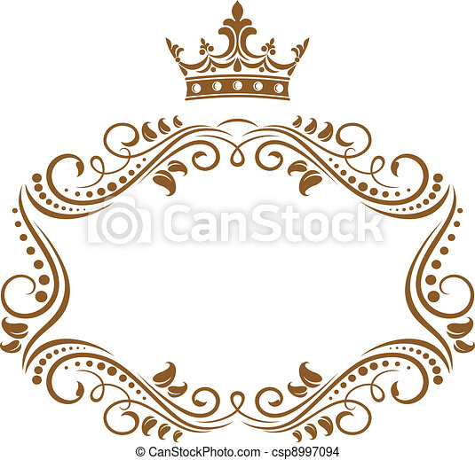 elegancki, ułożyć, królewska korona - csp8997094