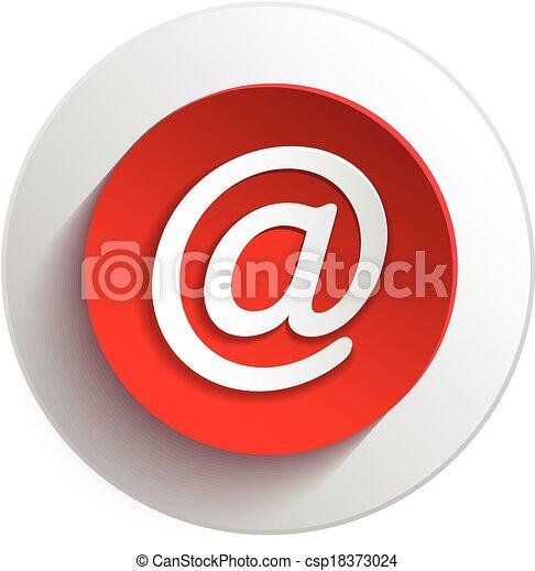 elementy, e-poczta, guzik, projektować - csp18373024
