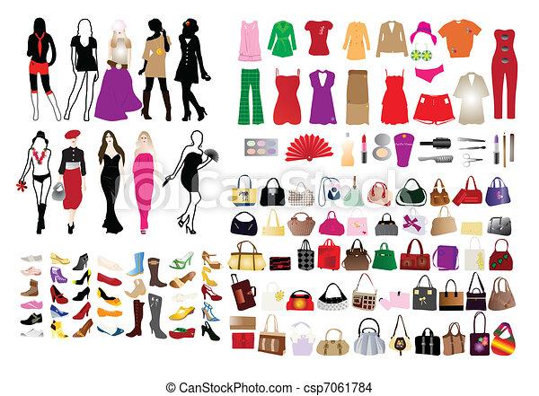 elementy, kobiety, fason - csp7061784