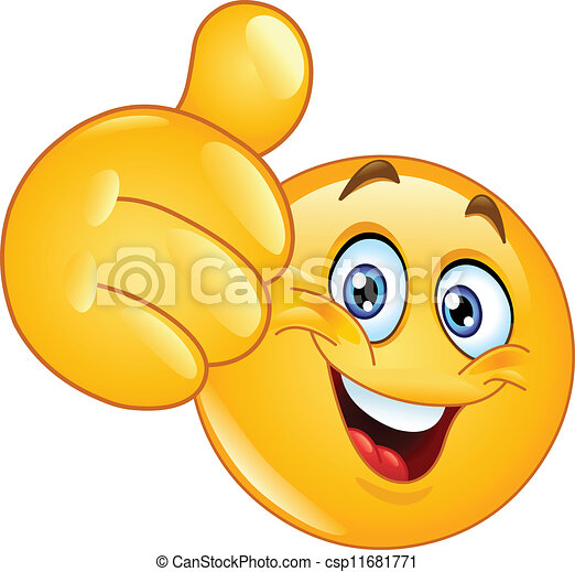 emoticon, kciuk do góry - csp11681771