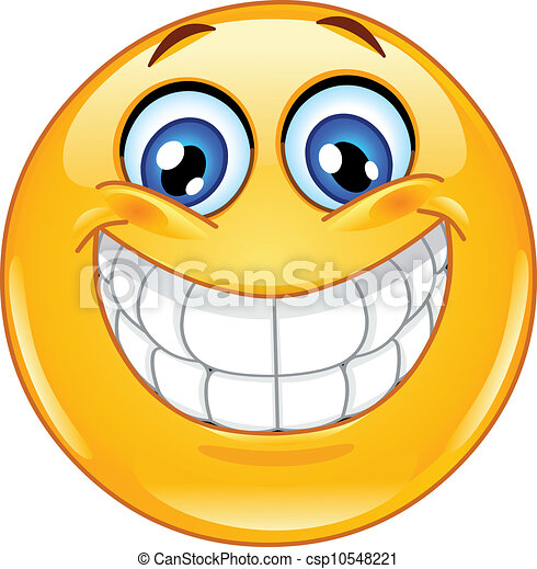 emoticon, wielki uśmiech - csp10548221
