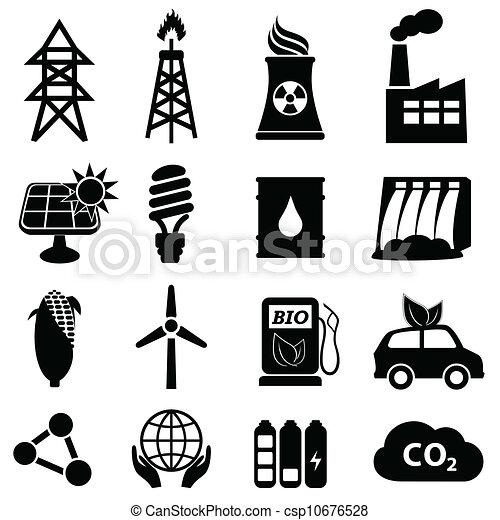 energia, komplet, ikona - csp10676528
