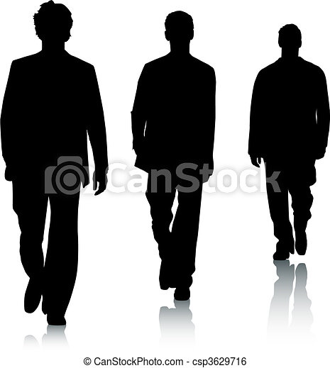 fason, sylwetka, mężczyźni - csp3629716