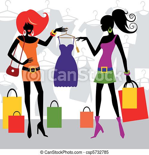 fason, zakupy, kobiety - csp5732785
