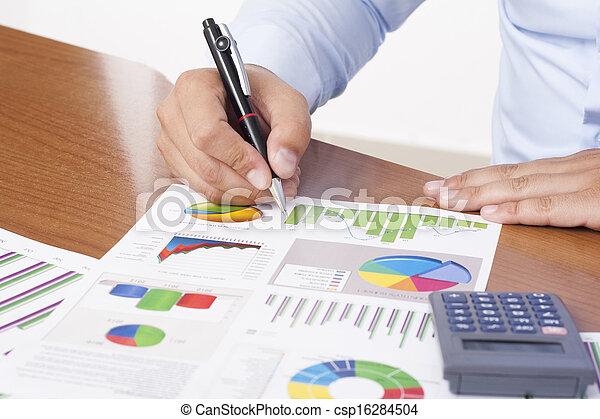 finansowy, dane, analizując - csp16284504