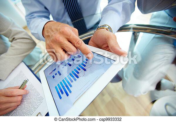 finansowy, dane, cyfrowy - csp9933332