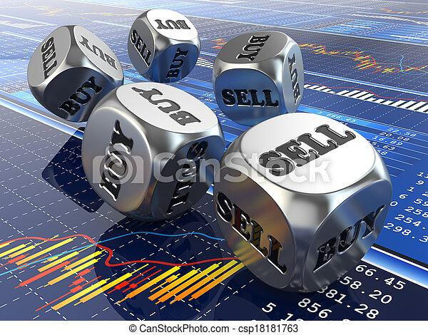 finansowy, jarzyna pokrajana w kostkę, concept., graph., targ, pień - csp18181763