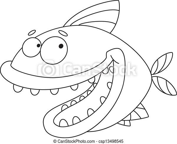 fish, konturowany, pomylony - csp13498545