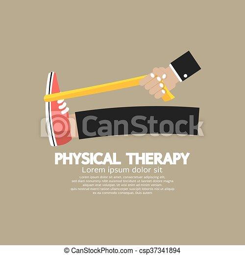 fizyczny, vector., terapia - csp37341894