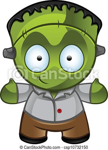 frankenstein's, -, potwór, uśmiech - csp10732150