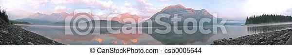 góra, wschód słońca - csp0005644