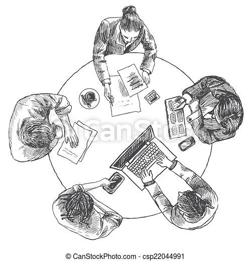 górny, spotkanie, handlowy, prospekt - csp22044991