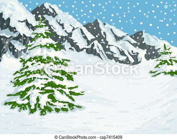 góry, zima - csp7415409