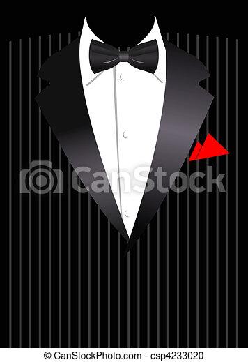 garnitur, wektor, handlowy, elegancki - csp4233020
