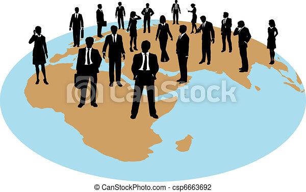 globalny, siła, handlowy zaludniają, praca, zasoby - csp6663692