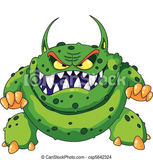 gniewny, zielony potwór - csp5642324