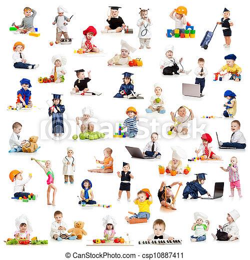 gra, zawody, niemowlę, dzieci, dzieciaki - csp10887411