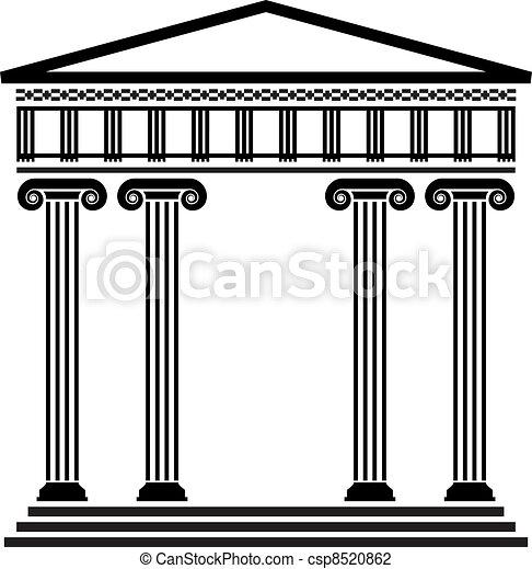 grek, wektor, starożytny, architektura - csp8520862