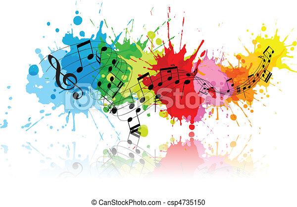 grunge, abstrakcyjny, muzyka - csp4735150