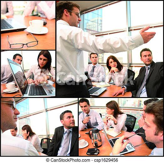 grupa, brainstorming, handlowy - csp1629456