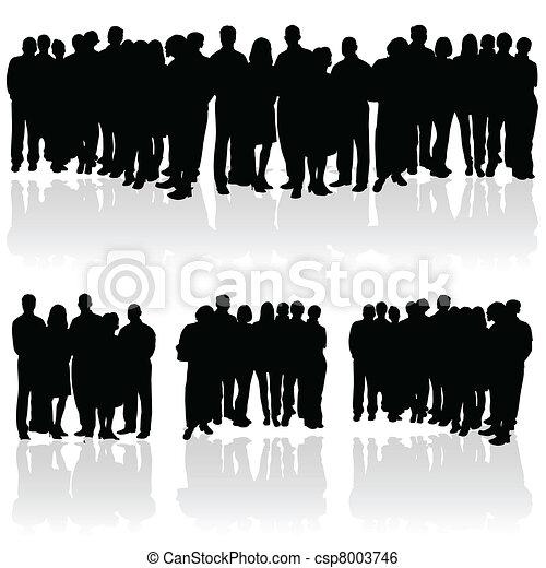 grupa, sylwetka, ludzie - csp8003746