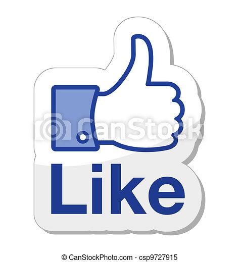 guzik, facebook, to, podobny - csp9727915