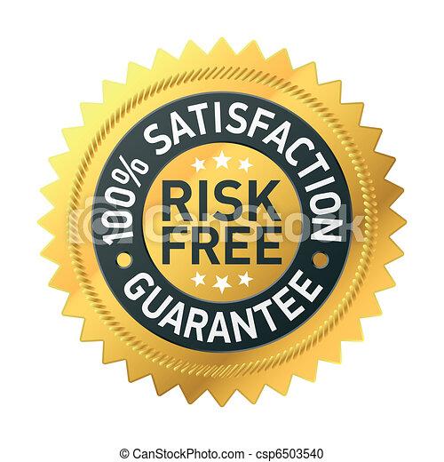 gwarantować, risk-free, etykieta - csp6503540