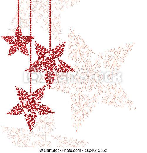 gwiazda, boże narodzenie ozdabia, czerwony - csp4615562