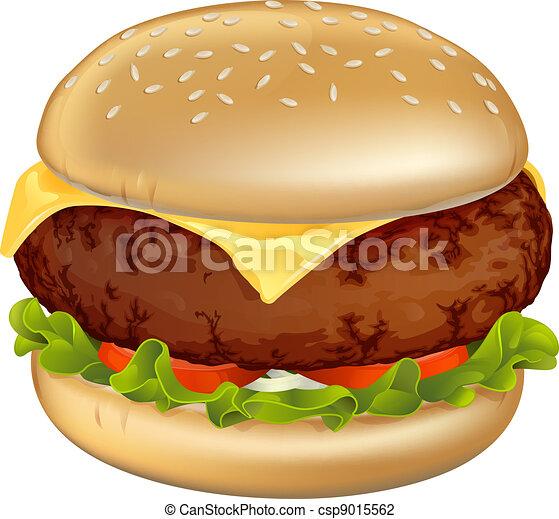 hamburger, ilustracja - csp9015562