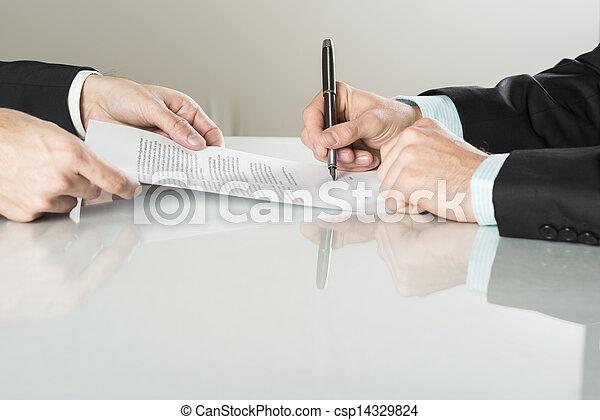 handlowy kontraktują - csp14329824