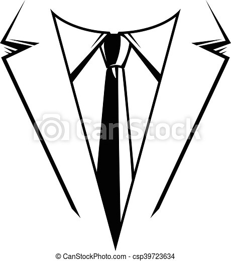 handlowy, krawat, &, garnitur, formalny - csp39723634